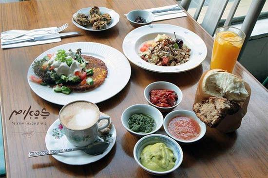 ארוחת בוקר טבעונית זכאים