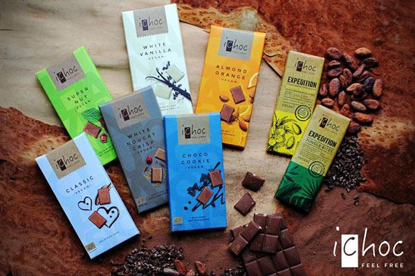 שוקולד טבעוני ichoc