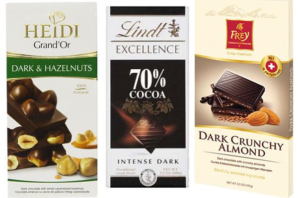 שוקולד מריר טבעוני - חברות שונות