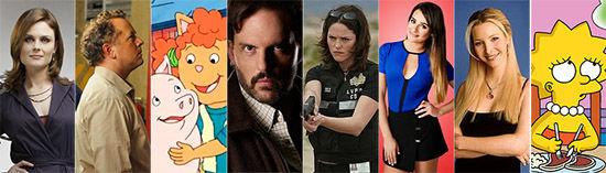 דמויות צמחוניות וטבעוניות בטלוויזיה