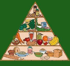 פירמידת תזונה טבעונית (איור: Dave Brousseau)