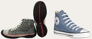 נעלי בד: אולסטאר (מימין) וקטרפילר