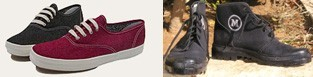 נעלי בד: פלדיום (מימין) וסניקרס של keds